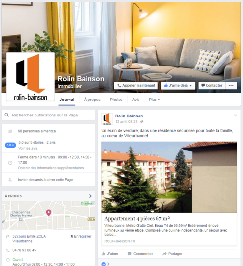 Rolin Bainson lance sa page Facebook!
